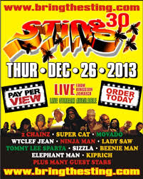 Bring the Sting Jamaica Concert Flyer