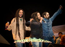 Julian Marley, Stephen Marley, Damian Marley at 9 Mile Festival Miami