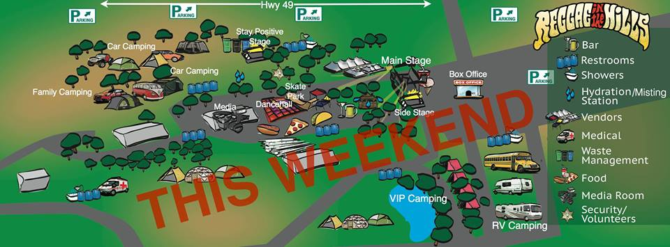 Reggae in the Hills map