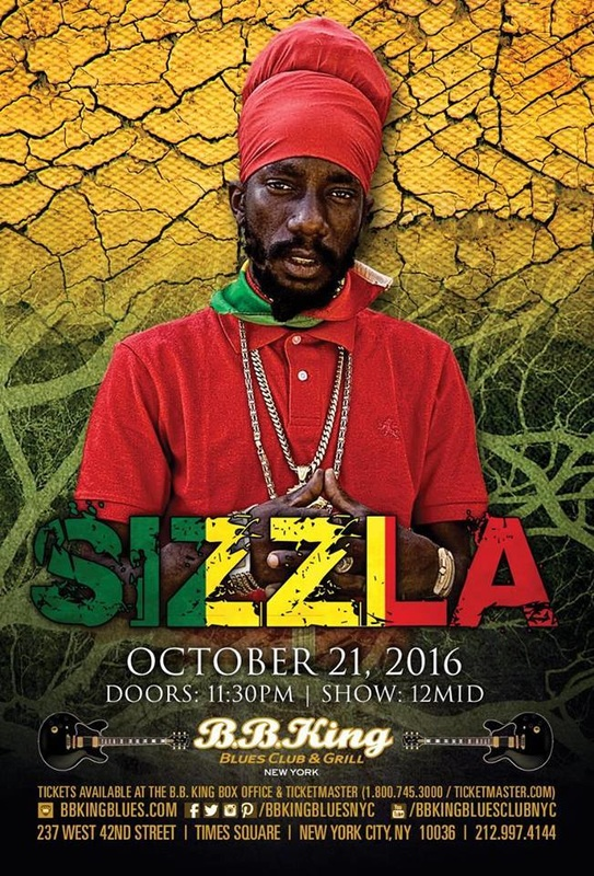 Sizzla US Tour NYC